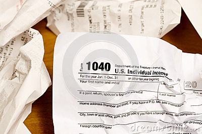Tax Time Editorial Stock Image