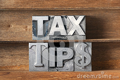 Tax tips tray