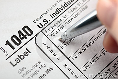 Taxes Editorial Stock Image