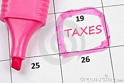 Taxes mark