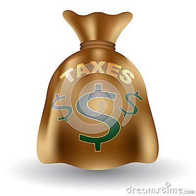 Taxes Money Bag