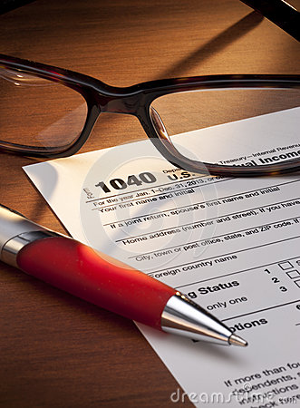 Taxes Tax 1040 Return Form Editorial Stock Photo