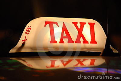 Taxi available for hire