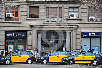 Taxi of Barcelona Editorial Image