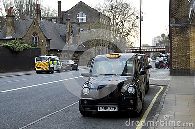 Taxi cab in london Editorial Stock Photo