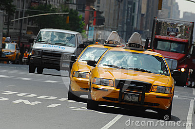 Taxi Cab New York City Editorial Photo