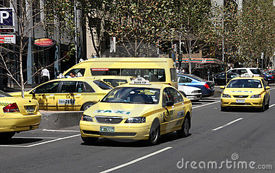 Taxi cabs Editorial Stock Photo