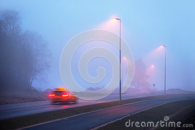 Taxi in fog