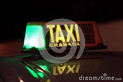 Taxi in Granada, Spain