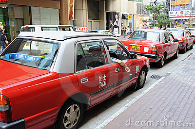 Taxi in Hong Kong Editorial Stock Photo
