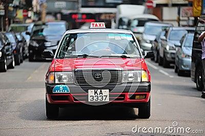 Taxi in Hong Kong Editorial Photo