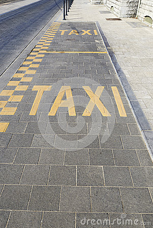 Taxi lane for parking