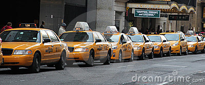 Taxi Line Editorial Stock Image