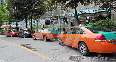 Taxi Line Editorial Stock Photo