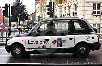 Taxi in London Editorial Stock Image