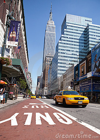 Taxi in Manhattan Editorial Stock Photo