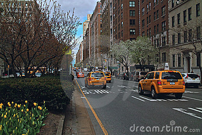 TaxiS Park Avenue New York USA Editorial Photo