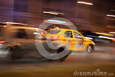 Taxi race Editorial Photography