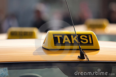 Taxi rank. Istanbul, Turkey.
