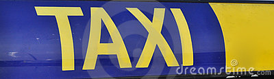 Taxi roofsign