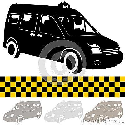 Taxi Shuttle Van Silhouette