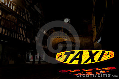 Taxi Sign 2