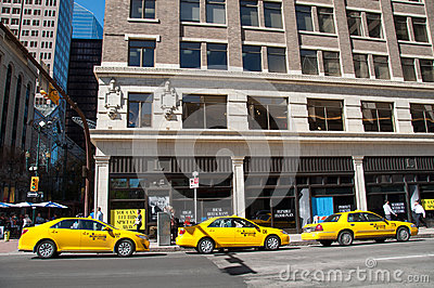 Taxi stand, Calgary Editorial Stock Photo