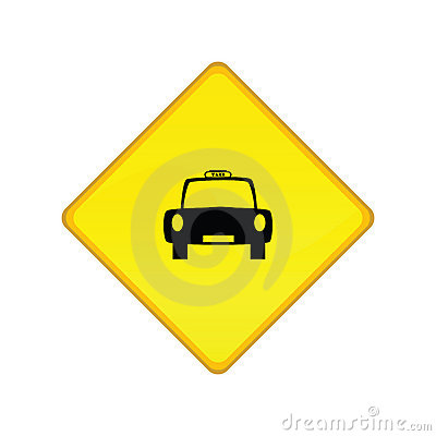 Taxi stand sign