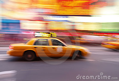 Taxi at Times Square in NYC