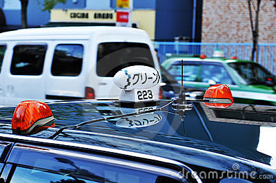 Taxi in Tokyo Editorial Photo