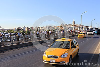 Taxi traffic Editorial Image
