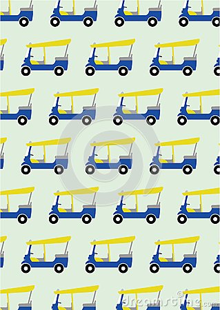 Taxi tuk tuk pattern background