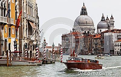 Taxi in Venice Editorial Image