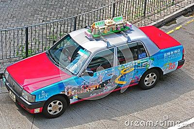 Taxicab of hong kong Editorial Stock Photo