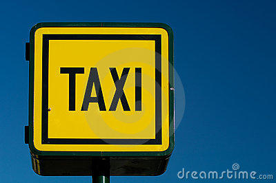 Taxicab stand sign