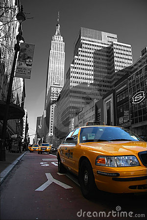 Taxies in Manhattan Editorial Image