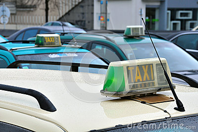 Taxis at the airport