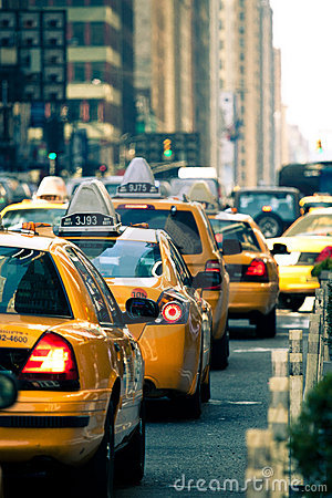 Taxis in New York City Editorial Stock Image