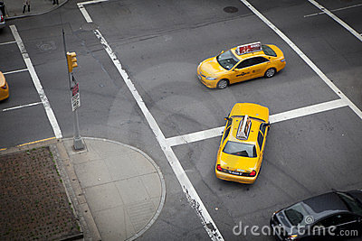 Taxis at Park Avenue Editorial Stock Photo