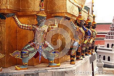 Tayland Bangkok royal palace sculpture of ancient