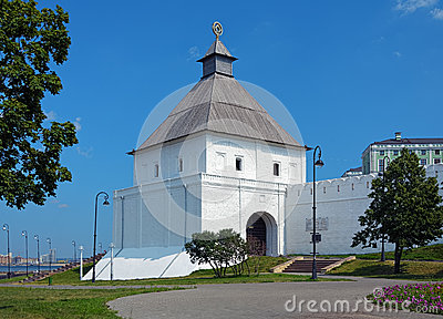 The Taynitskaya tower of the Kazan Kremlin, Russia