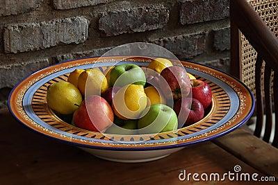 Tazón de fuente de fruta