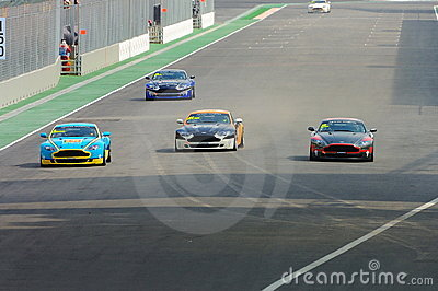 Taza 2008 de Aston Martin Asia en Singapur Prix magnífico Fotografía editorial