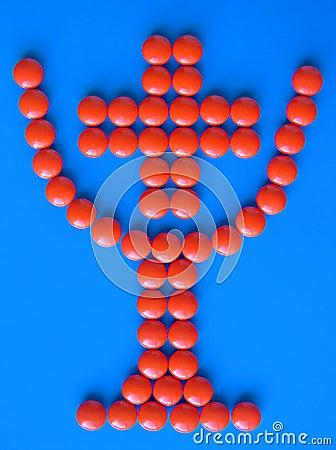 Taza con la cruz adentro