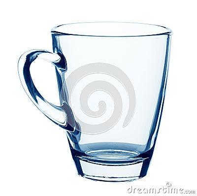 Taza de cristal vacía