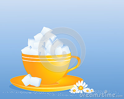 Taza del cubo del azúcar