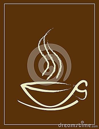 Taza y humo de café