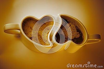 Tazas de café en forma de corazón