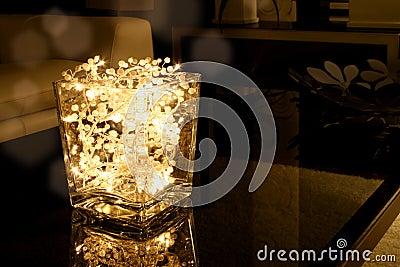 Tazón de fuente de la luz de la Navidad