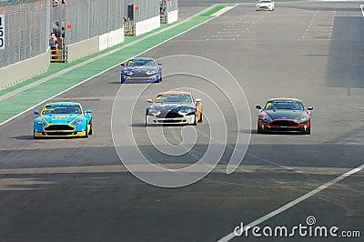 Tazza 2008 di Aston Martin Asia a Singapore grande Prix Fotografia Editoriale